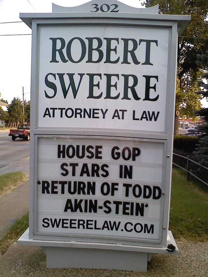 "House GOP Stars in ""Return of Todd-Akin-stein"""