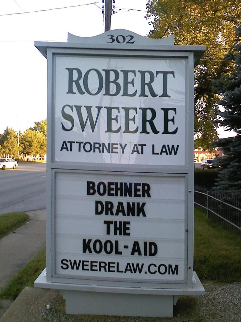 Boehner drank the kool-aid