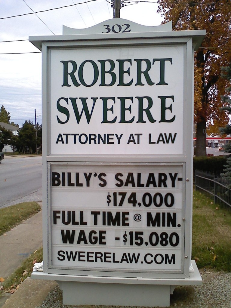 Billy's part time salary